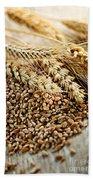 Wheat Ears And Grain Beach Sheet