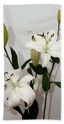 White Lily Spray Beach Towel