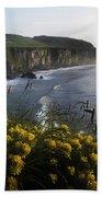 Wildflowers At The Coast, County Beach Towel