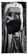 Woman In Alley Beach Towel by Joana Kruse