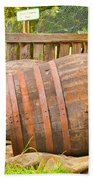 Wooden Barrels Beach Towel
