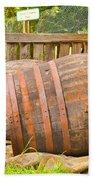 Wooden Barrels Beach Sheet