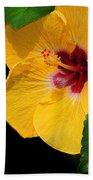 Yellow Hibiscus Beach Towel