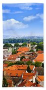 Zemun Rooftops In Belgrade Beach Towel by Elena Elisseeva
