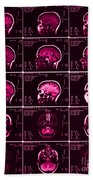 Mri Of Normal Brain Beach Towel