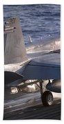 An Fa-18c Hornet Launches Beach Towel
