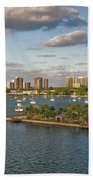 27- Singer Island Skyline Beach Towel