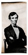 Abraham Lincoln, 16th American President Beach Towel by Photo Researchers