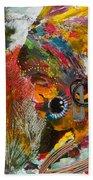 African Bead Painting  Beach Towel
