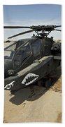 An Ah-64d Apache Helicopter At Cob Beach Towel