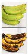Banana Ripening Sequence Beach Towel