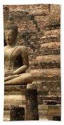 Buddha At Sukhothai Beach Towel