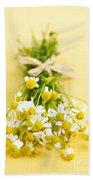 Chamomile Flowers Beach Towel