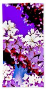 Cherry Blossom Art Beach Towel