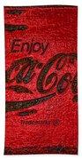 Coca Cola Classic Vintage Rusty Sign Beach Towel