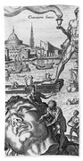Colossus Of Rhodes Beach Towel