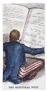 Election Cartoon, 1876 Beach Towel