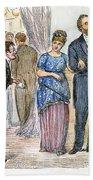 Election Cartoon, 1877 Beach Towel