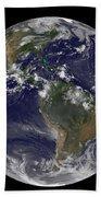 Full Earth Showing North America Beach Sheet
