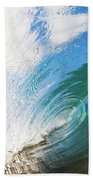 Glassy Breaking Wave Beach Towel
