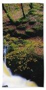 Glenmacnass Waterfall, Co Wicklow Beach Towel