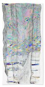 Icicle Cross Section Beach Towel