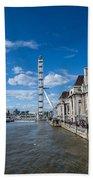 London Eye And County Hall Beach Towel