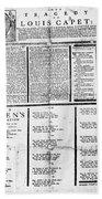 Louis Xvi: Execution, 1793 Beach Towel
