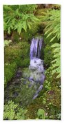 Mossy Waterfall Beach Towel