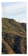 Ojai Valley With Snow Beach Towel