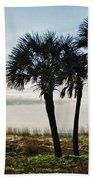 3 Palms On The Beach Beach Towel