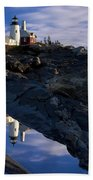 Pemaquid Point Lighthouse Beach Towel by Brian Jannsen