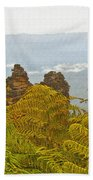 3 Sisters Blue Mountains Beach Towel