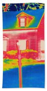 Thermogram Of A House Beach Towel