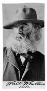 Walt Whitman, American Poet Beach Towel