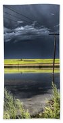Storm Clouds Saskatchewan Beach Towel