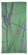Water Reed Digital Art Beach Towel