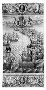 Spanish Armada, 1588 Beach Towel