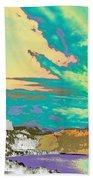 Space Landscape Beach Towel
