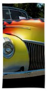 39 Ford Deluxe Hot Rod Beach Towel