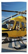 A Bell 407 Utility Helicopter Beach Towel