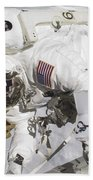 An Astronaut Participates In A Session Beach Towel by Stocktrek Images