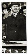 Calvin Coolidge (1872-1933) Beach Sheet