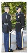 Changing Of Guard At Arlington National Beach Towel