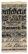 Confederate Banknote Beach Towel