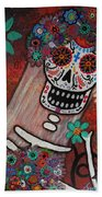 day of the dead BRIDE Beach Towel