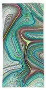 Digital Art Abstract Beach Towel