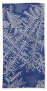 Frost On A Window Beach Towel