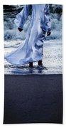 Girl At The Sea Beach Towel