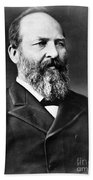 James A. Garfield, 20th American Beach Towel